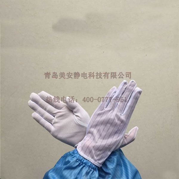 白色点塑防静电手套批发定制厂家